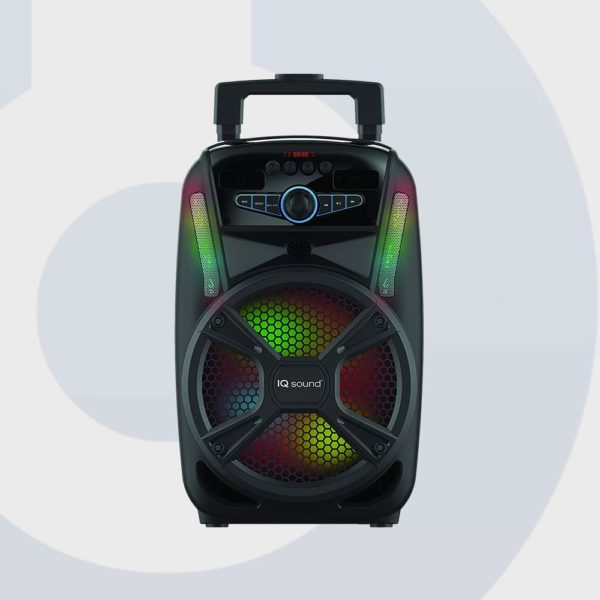 IQ Sound IQ 4408DJBT 8 Tailgate LED Portable Rechargeable Bluetooth Wireless Speaker